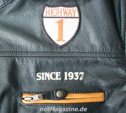 netMagazine: Lederjacke Highway 1 Retro Motorradbekleidung